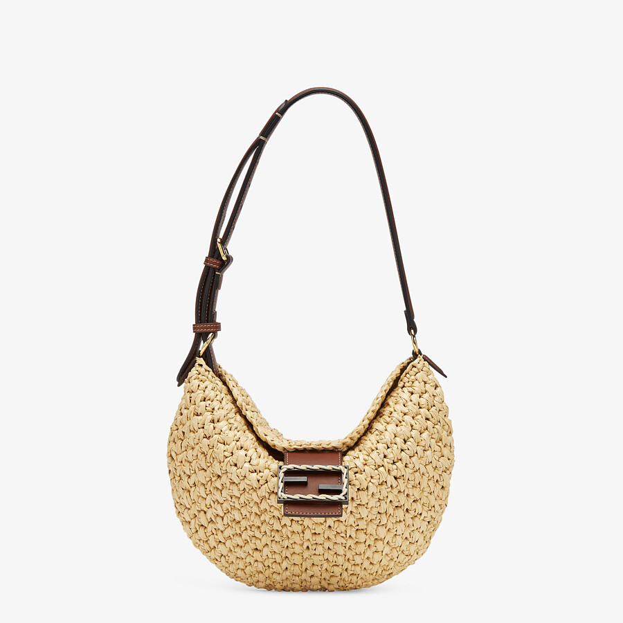 FENDI SMALL CROISSANT - Woven straw bag - view 1 detail