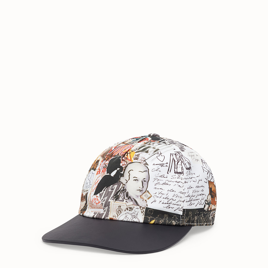 FENDI HAT - Multicolour nylon baseball cap - view 1 detail