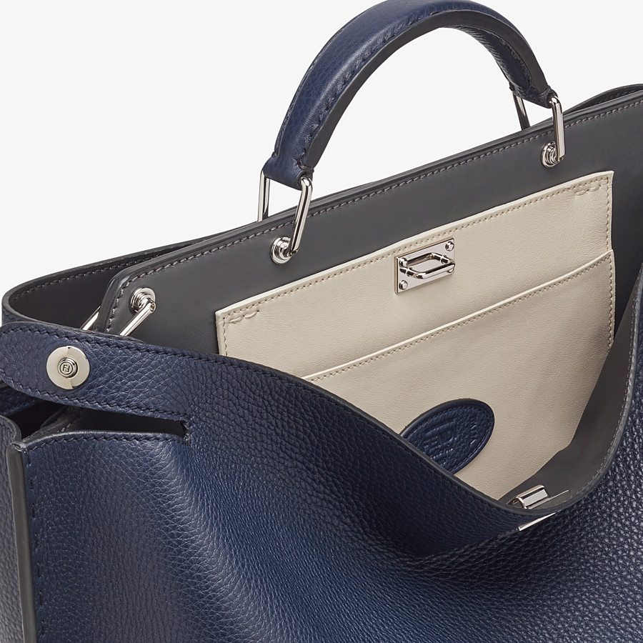 FENDI PEEKABOO ICONIC ESSENTIAL - Blue leather bag - view 5 detail