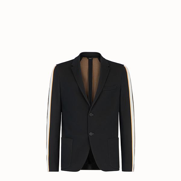 FENDI 外套 - 黑色棉質針織西裝外套 - view 1 小型縮圖