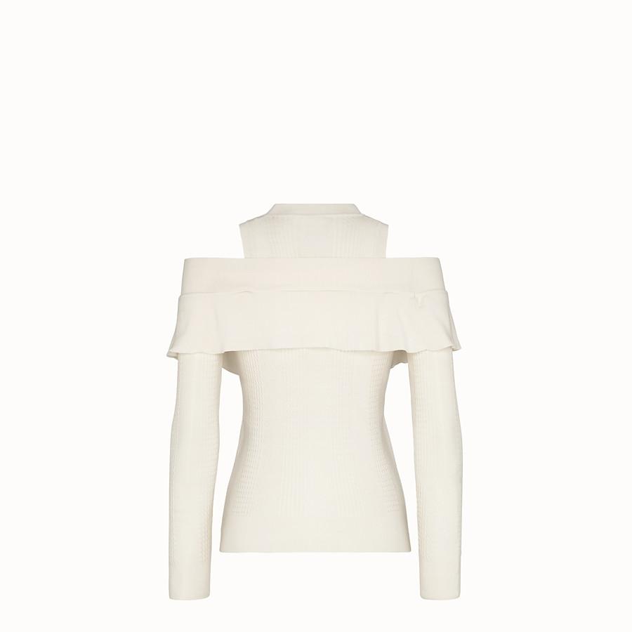 FENDI 毛衣 - 白色羊絨和羊毛毛衣 - view 2 detail
