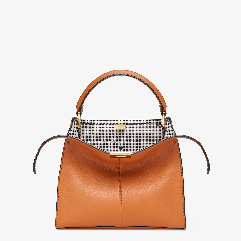 FENDI PEEKABOO X-LITE MEDIUM - Brown leather and check bag - view 1 detail