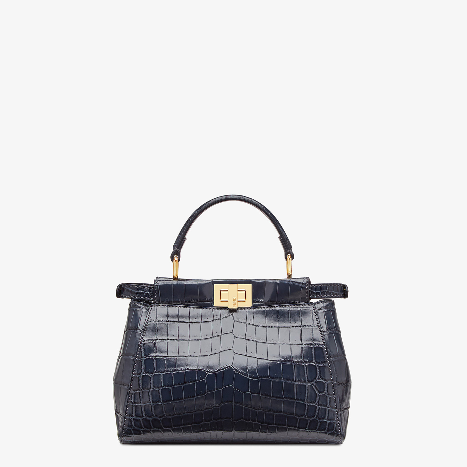 FENDI PEEKABOO MINI - Black crocodile bag - view 3 detail