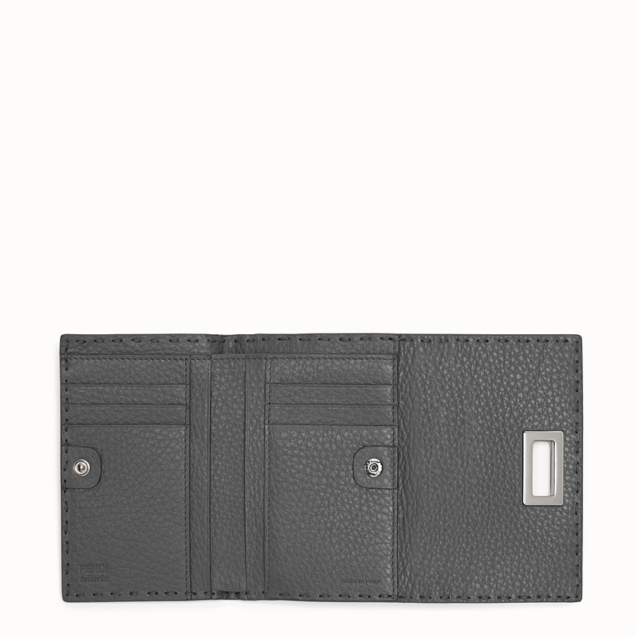 FENDI WALLET - Grey Roman leather wallet - view 4 detail