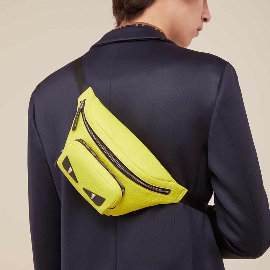 FENDI BELT BAG - Yellow Romano leather belt bag - view 5 detail