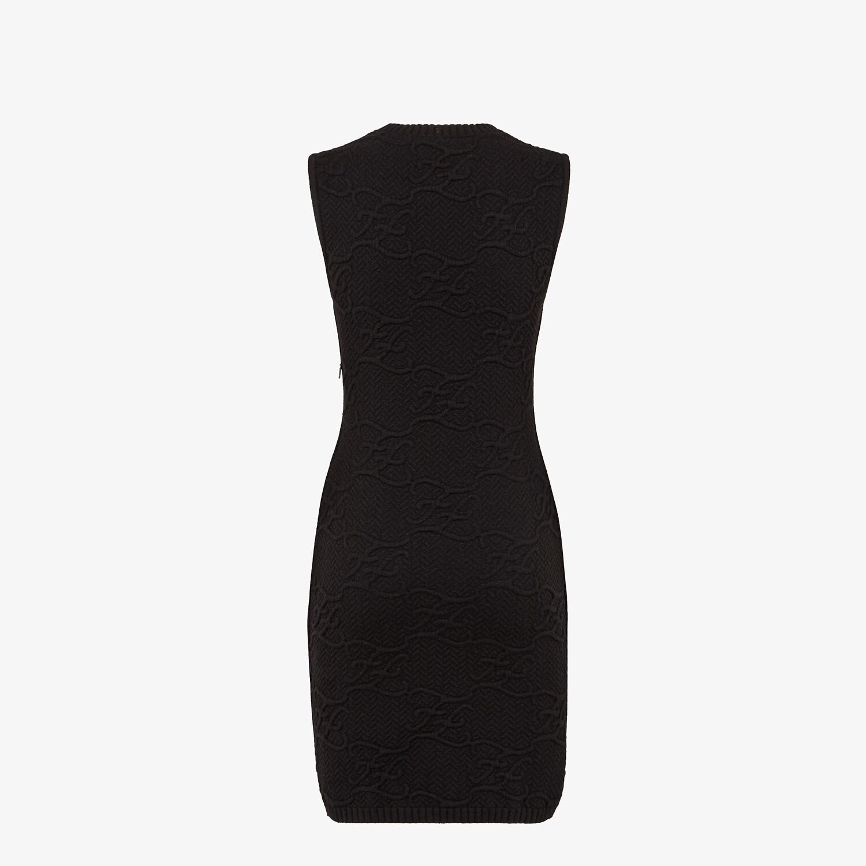 FENDI DRESS - Black wool and cashmere dress - view 2 detail
