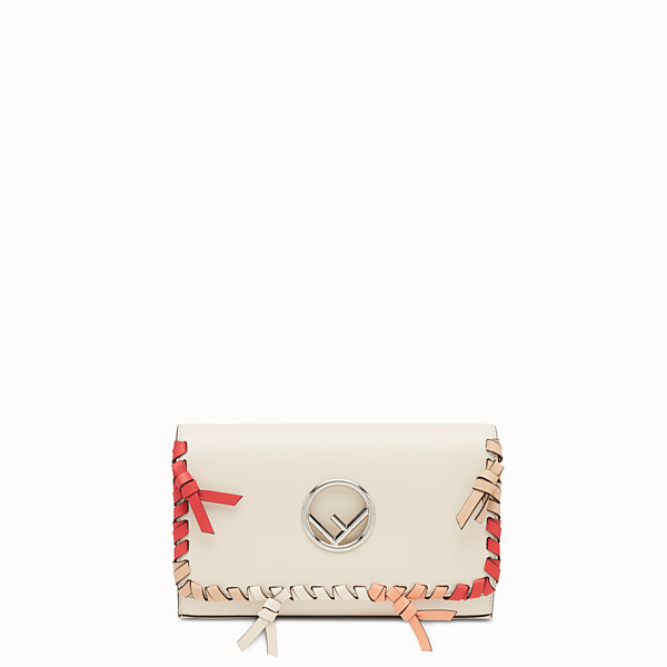 FENDI WALLET ON CHAIN - White leather mini-bag - view 1 small thumbnail