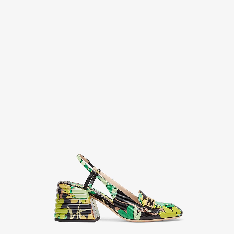 FENDI SLINGBACK - Promenade in tessuto multicolor - vista 1 dettaglio