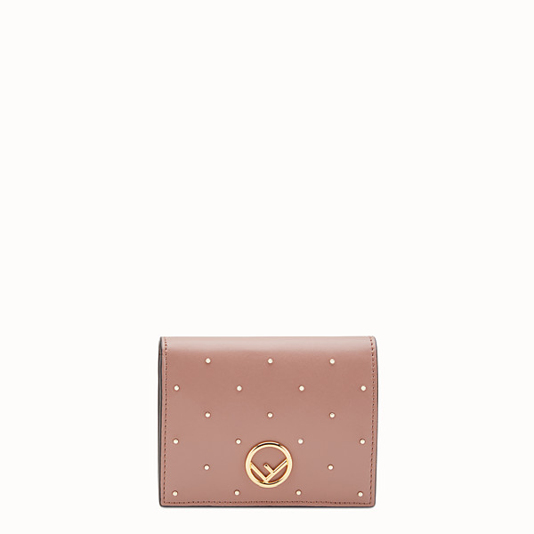 FENDI BIFOLD - Pink leather compact wallet - view 1 small thumbnail