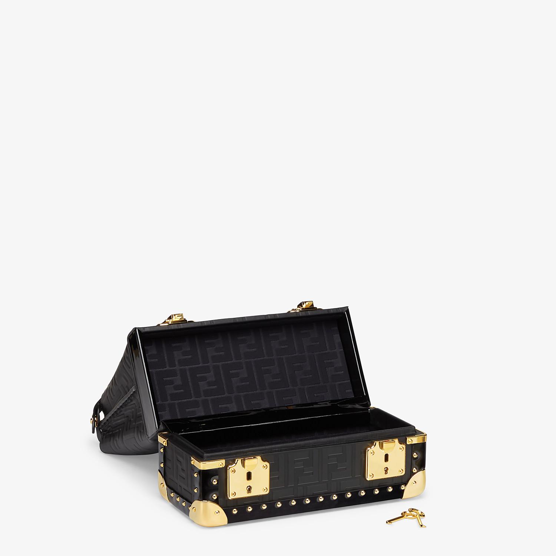FENDI PEEKABOO ICONIC MINI TRUNK - Black leather bag - view 3 detail