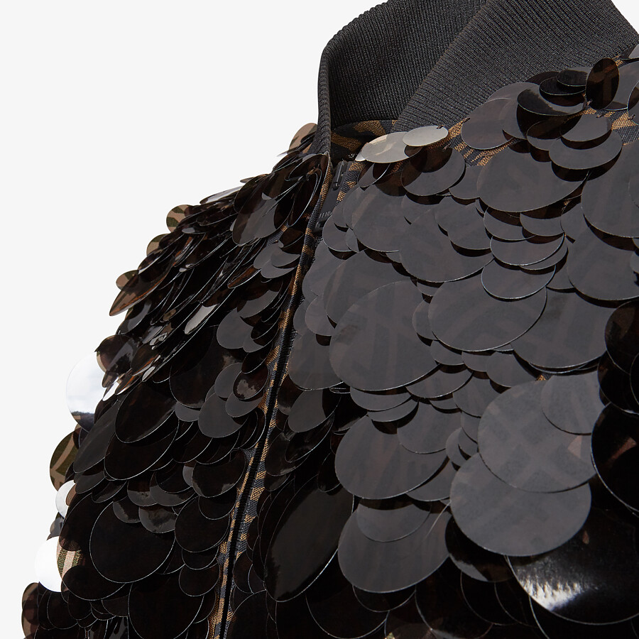 FENDI JACKET - Bomber jacket with FF sequins. - view 3 detail
