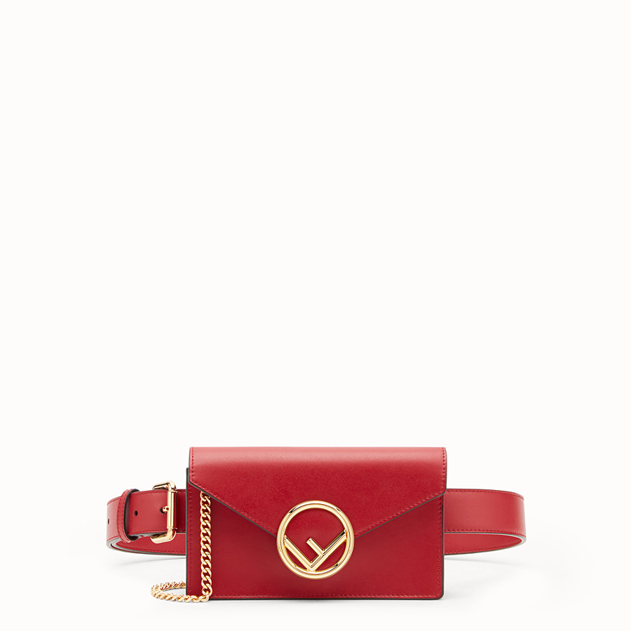 FENDI BELT BAG - Red leather belt bag - view 1 detail