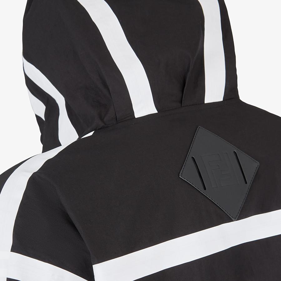 FENDI PARKA - Black tech fabric parka - view 4 detail