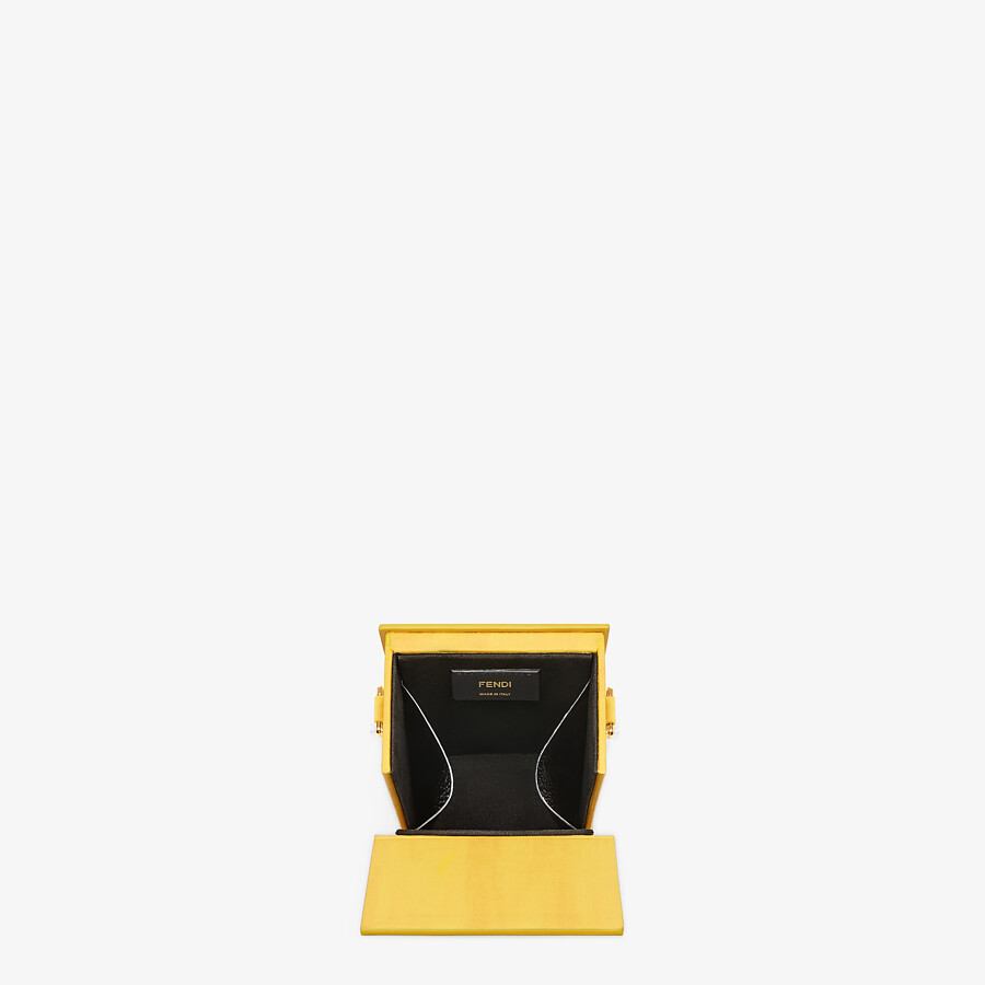 FENDI VERTICAL BOX - Yellow leather bag - view 4 detail