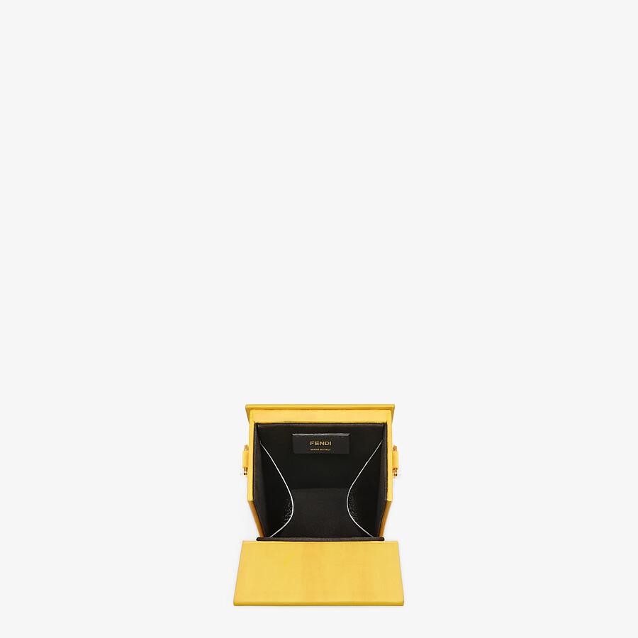 FENDI VERTICAL BOX - Yellow leather bag - view 4 detail