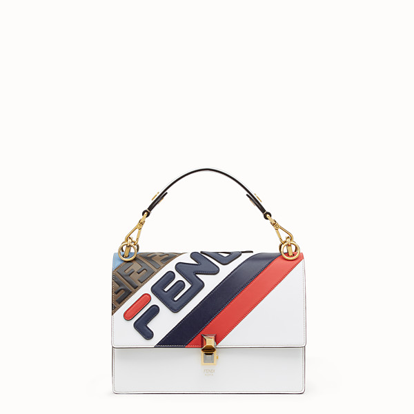 FENDI KAN I - Borsa in pelle multicolor - vista 1 thumbnail piccola