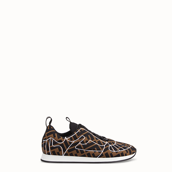 FENDI SNEAKERS - Brown Lycra® sneakers - view 1 small thumbnail