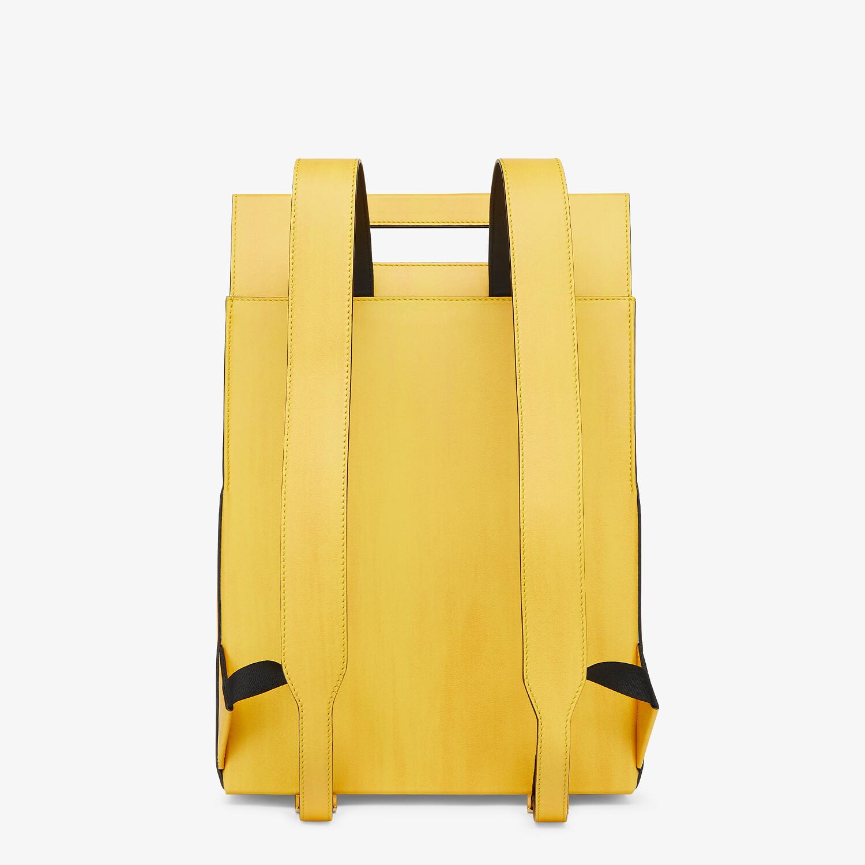 FENDI FENDI PACK BACKPACK - Yellow leather backpack - view 3 detail