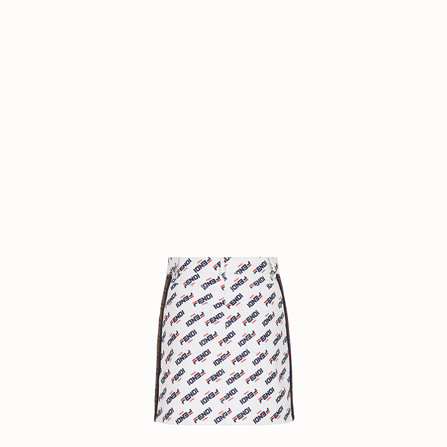 FENDI SKIRT - White leather mini skirt - view 2 detail