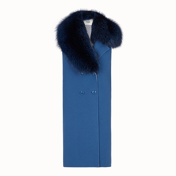 FENDI GILET - Blue wool gilet - view 1 small thumbnail