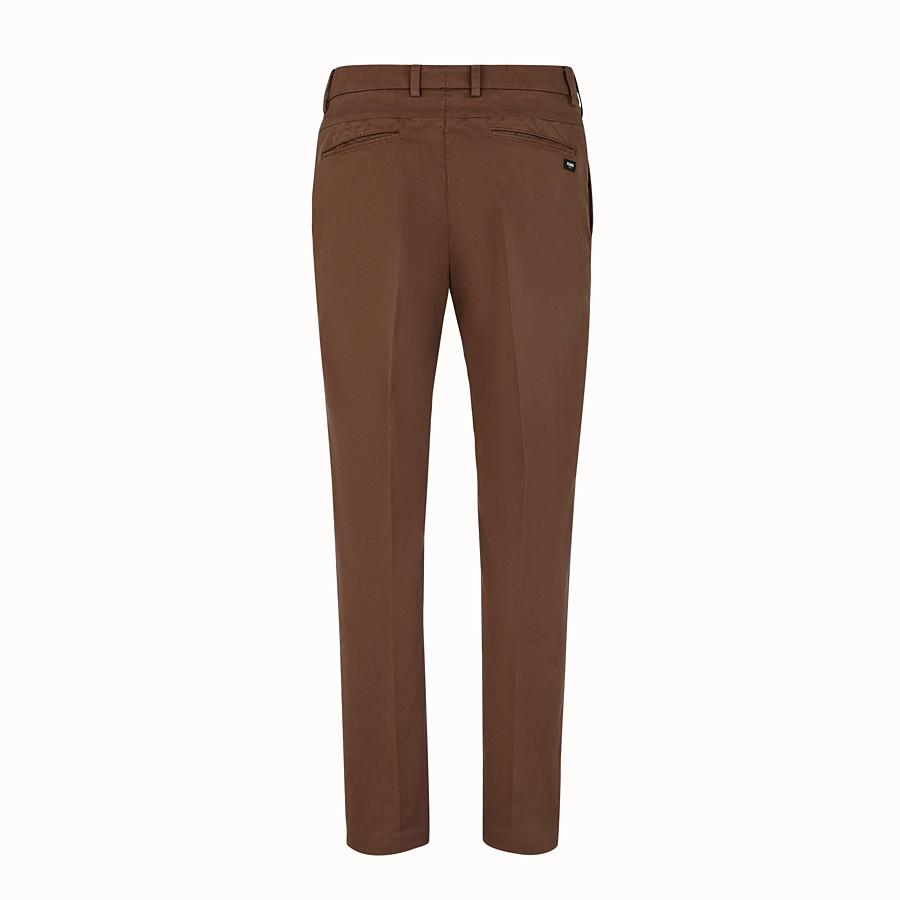 FENDI PANTALONE - Pantalone in cotone beige - vista 2 dettaglio