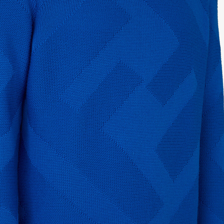 FENDI PULLOVER - Blue wool pullover - view 3 detail
