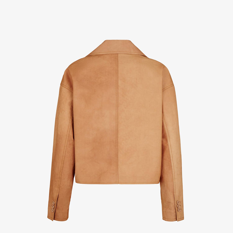 FENDI JACKET - Brown cotton jacket - view 2 detail
