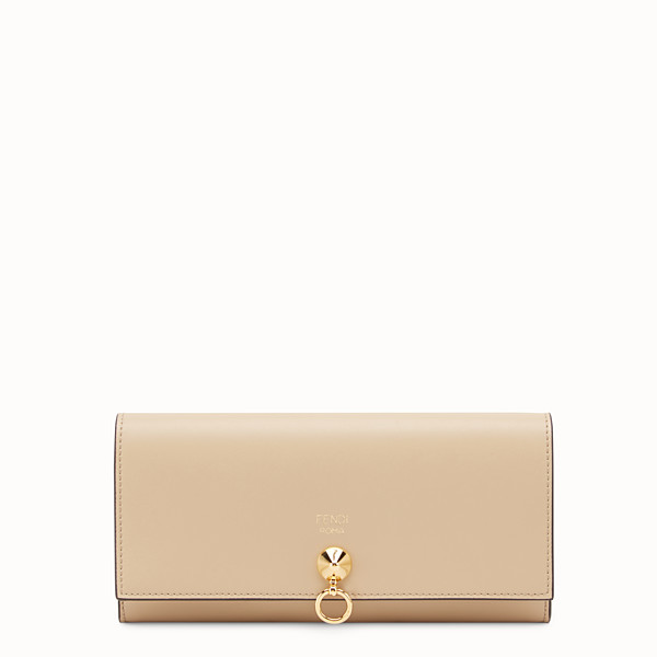 FENDI CONTINENTAL WITH CHAIN - Beige leather wallet - view 1 small thumbnail