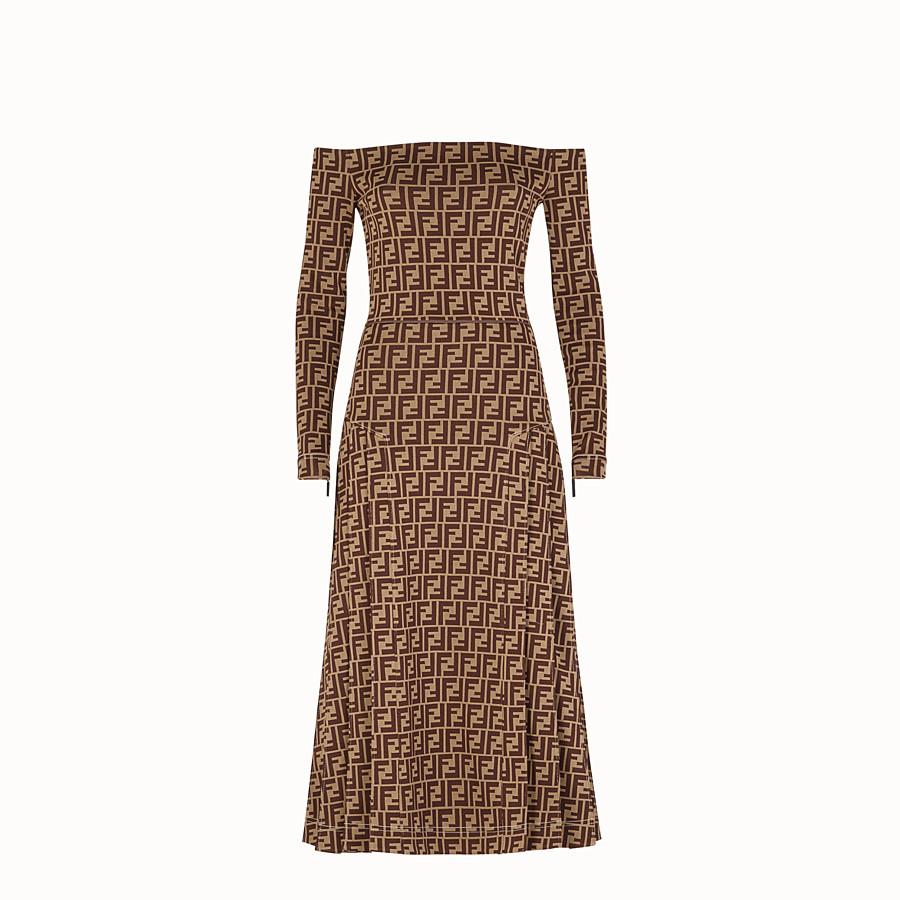 FENDI 드레스 - 멀티 컬러의 저지 드레스 - view 1 detail