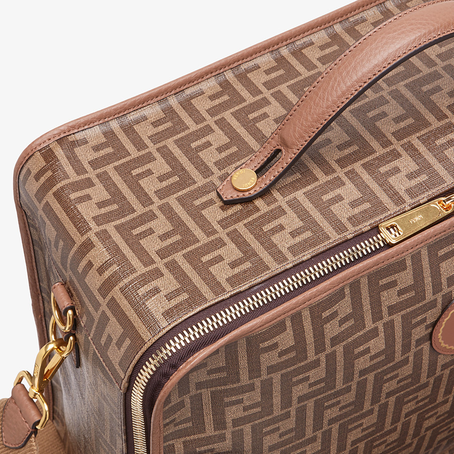 FENDI TRAVEL BAG MEDIUM - Large brown fabric bag - view 5 detail
