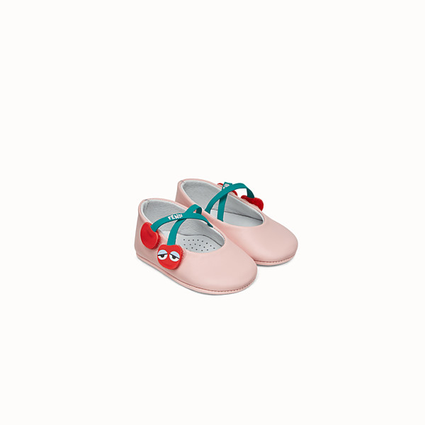 FENDI BALLERINAS - Pink leather ballerinas - view 1 small thumbnail