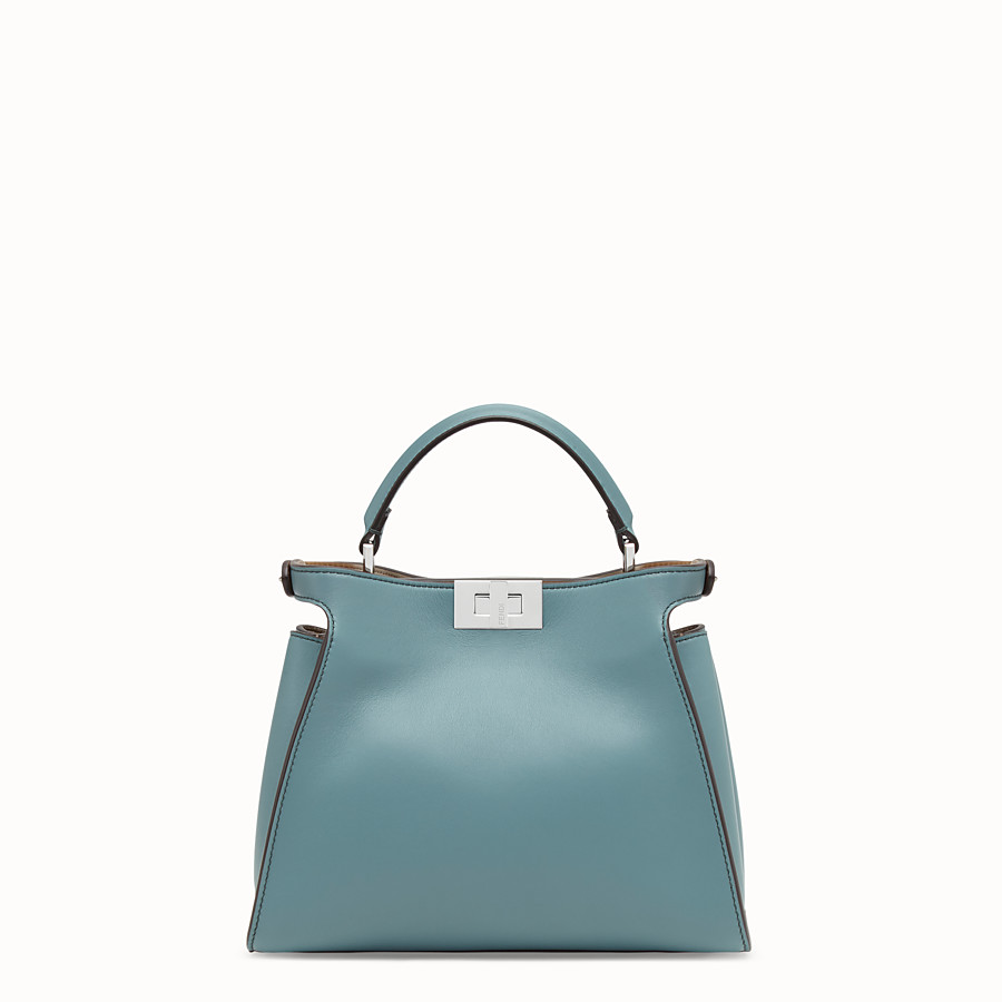FENDI PEEKABOO ICONIC ESSENTIALLY - Light blue leather bag - view 4 detail