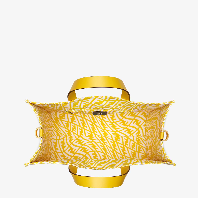 FENDI SHOPPER - Yellow glazed canvas bag - view 5 detail