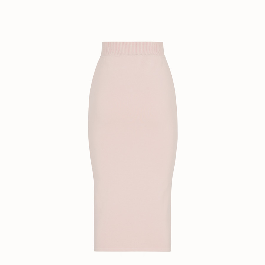FENDI SKIRT - Pink fabric skirt - view 2 detail
