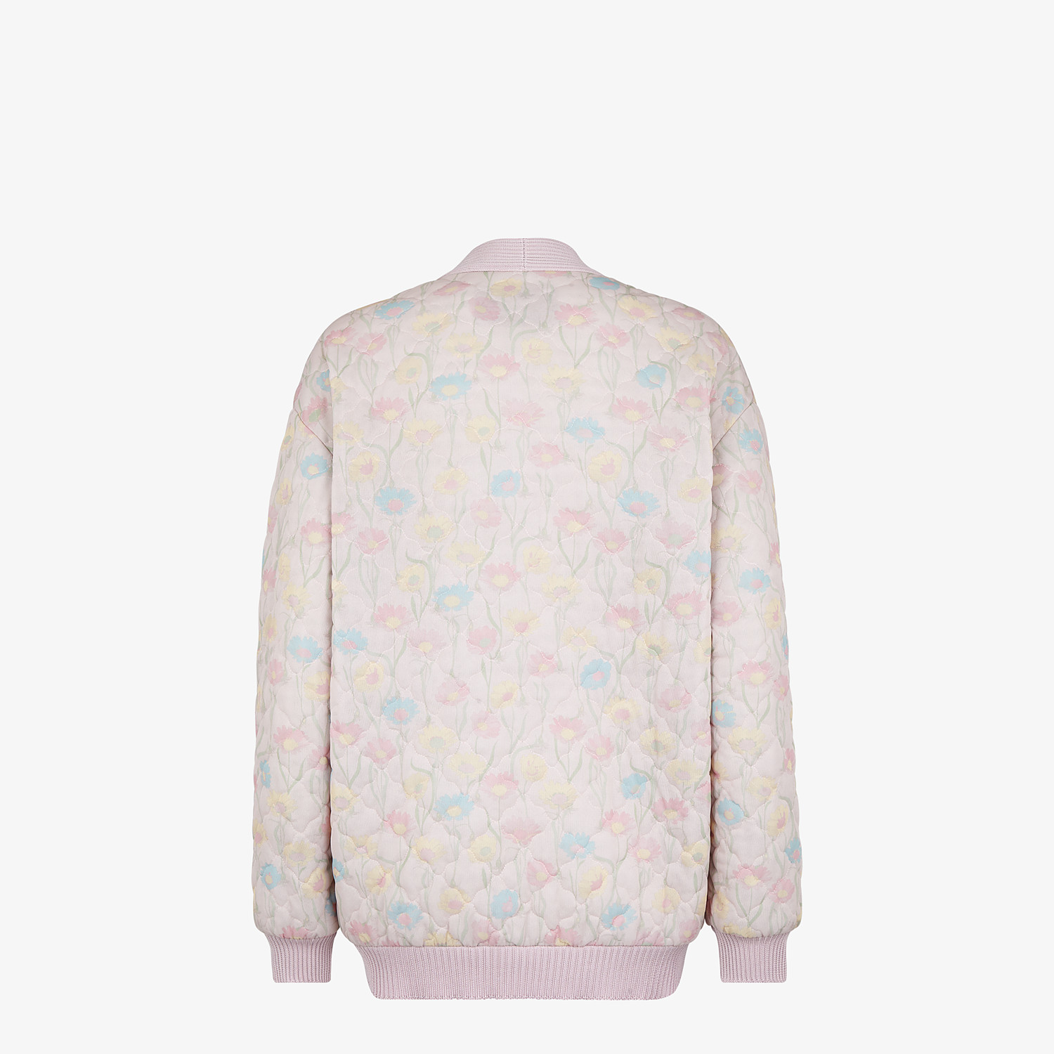 FENDI JACKET - Pink quilted fabric blouson jacket - view 2 detail