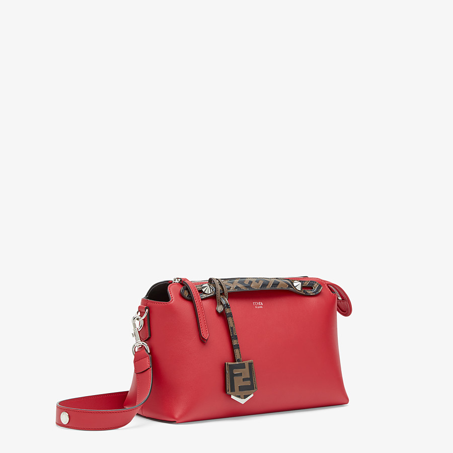 FENDI BY THE WAY MEDIUM - Red leather Boston bag - view 3 detail