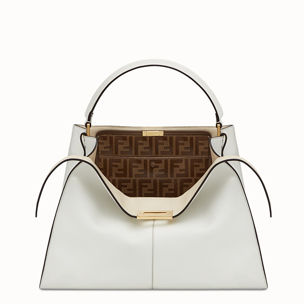 FENDI PEEKABOO X-LITE - White leather bag - view 1 small thumbnail