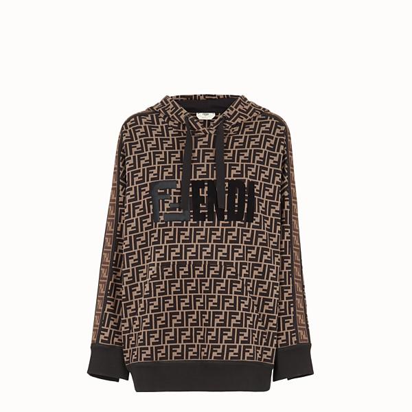 FENDI SWEATSHIRT - Multicolour cotton hoodie - view 1 small thumbnail
