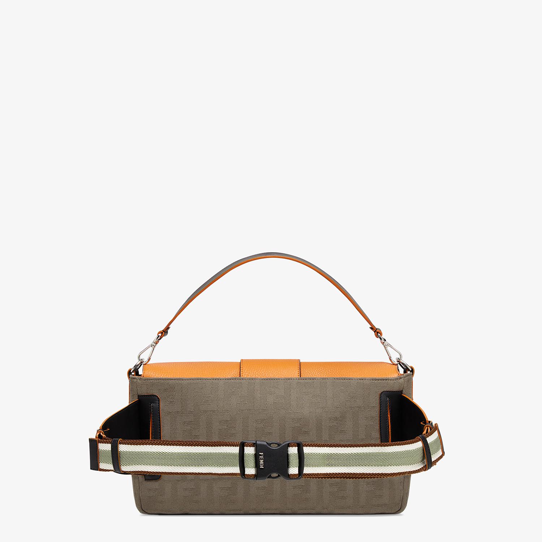 FENDI BAGUETTE LARGE - Brown canvas bag - view 3 detail