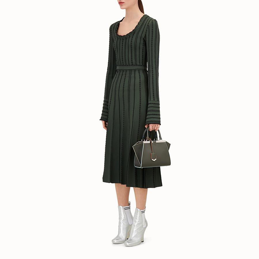 FENDI 迷你款式3JOURS - 草綠色皮革手提包 - view 5 detail