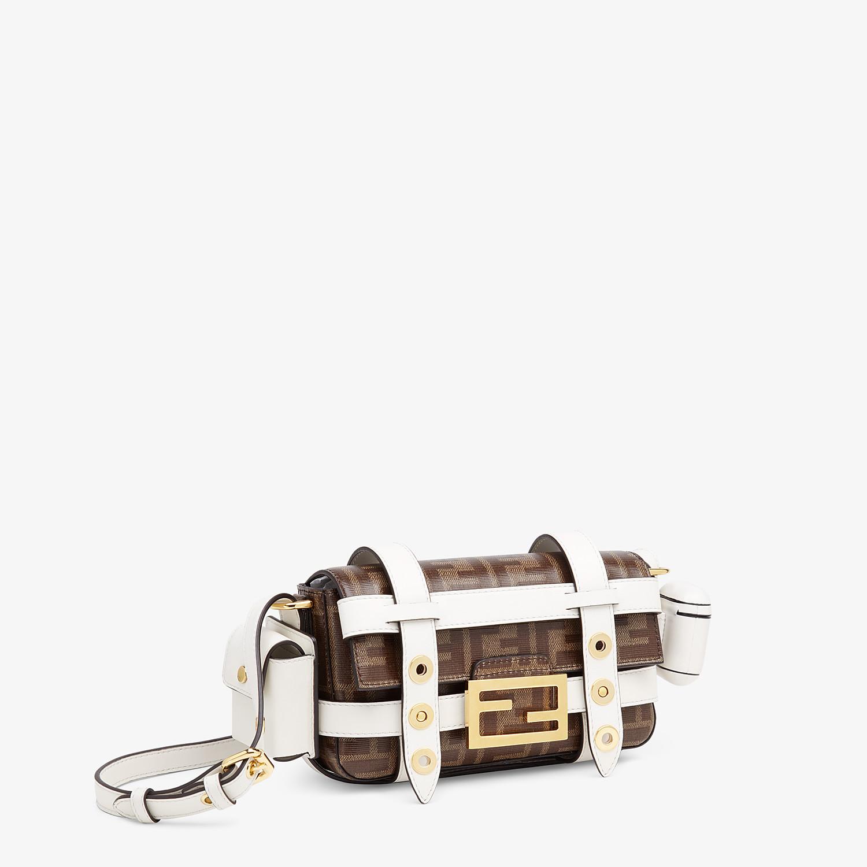 FENDI BAGUETTE MINI CAGE - Multicolour leather and fabric bag - view 4 detail