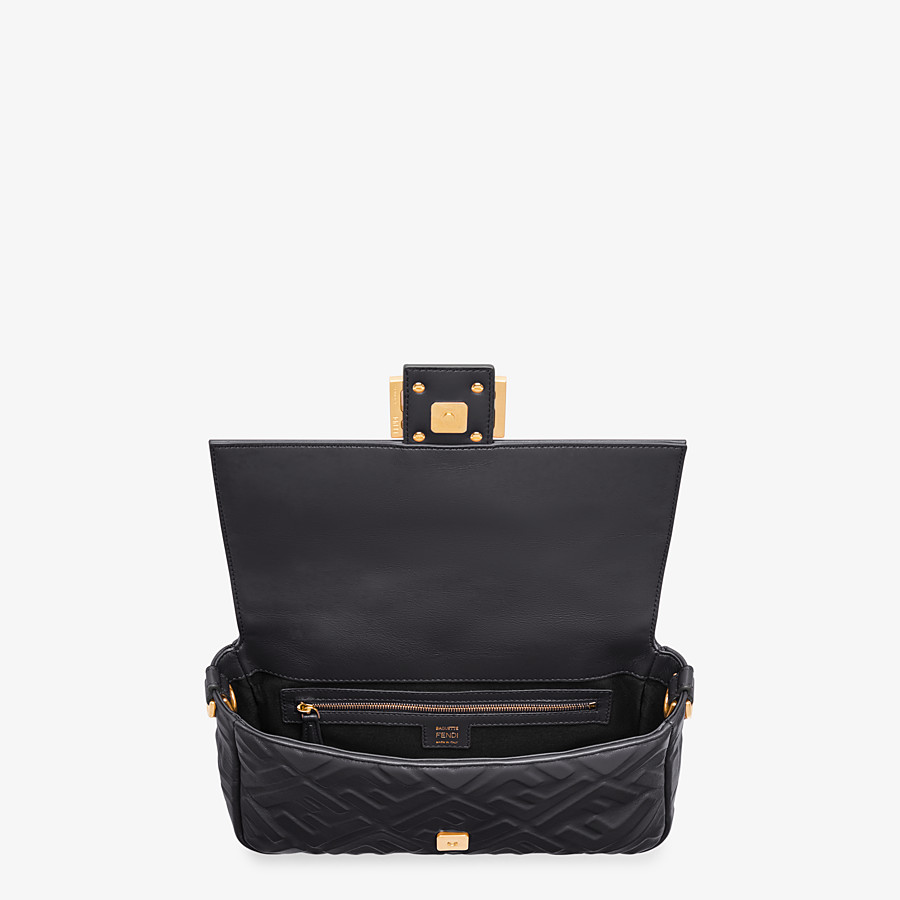 FENDI BAGUETTE - Black leather bag - view 5 detail