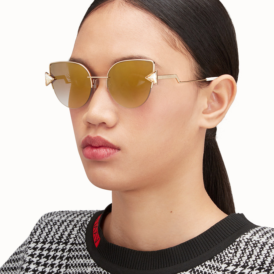 FENDI RAINBOW - Gold sunglasses. - view 4 detail