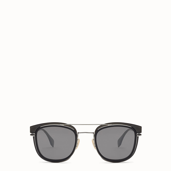 FENDI FENDI GLASS - Dark grey and dark ruthenium sunglasses - view 1 small thumbnail