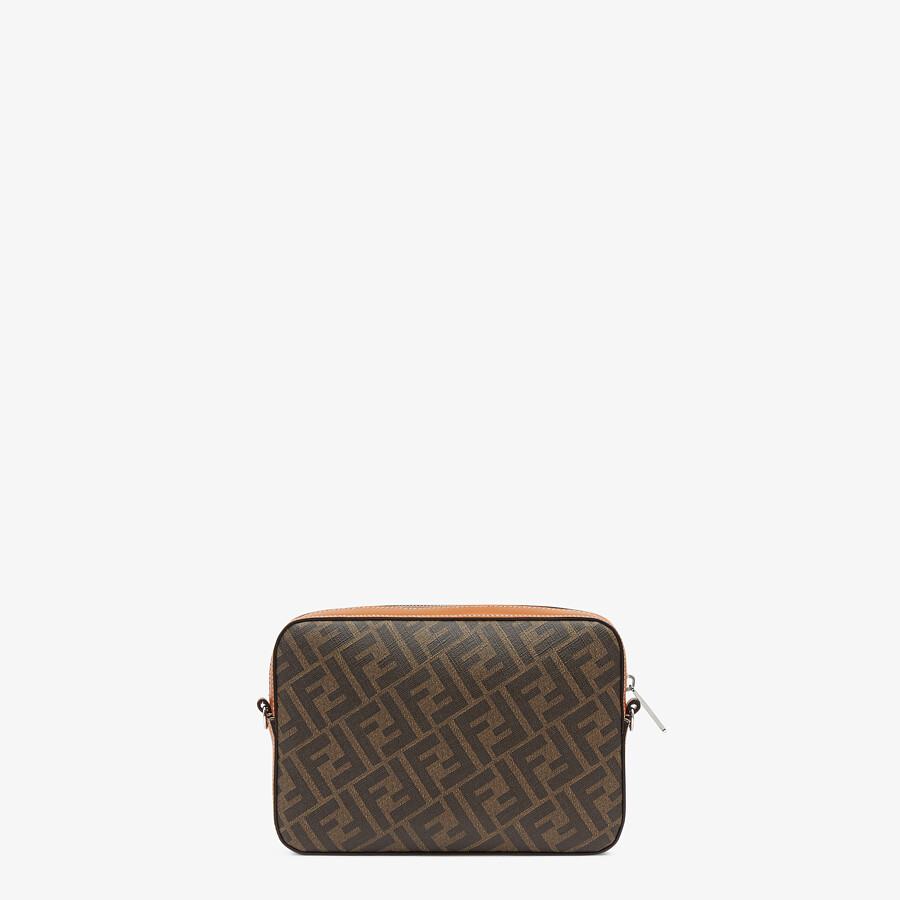 FENDI CAMERA CASE - Brown fabric bag - view 3 detail