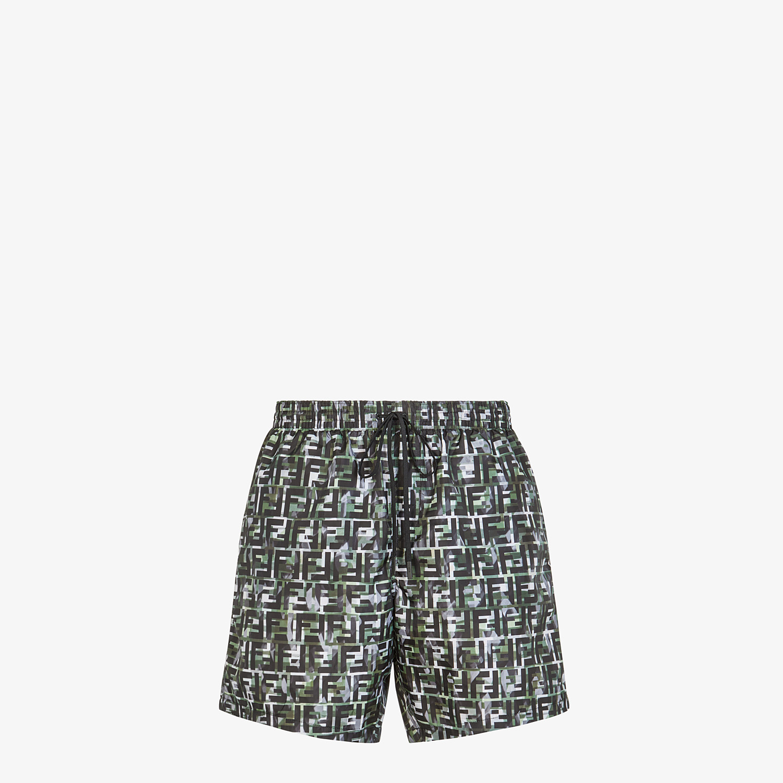 FENDI SWIM SHORTS - Multicolor tech fabric shorts - view 1 detail