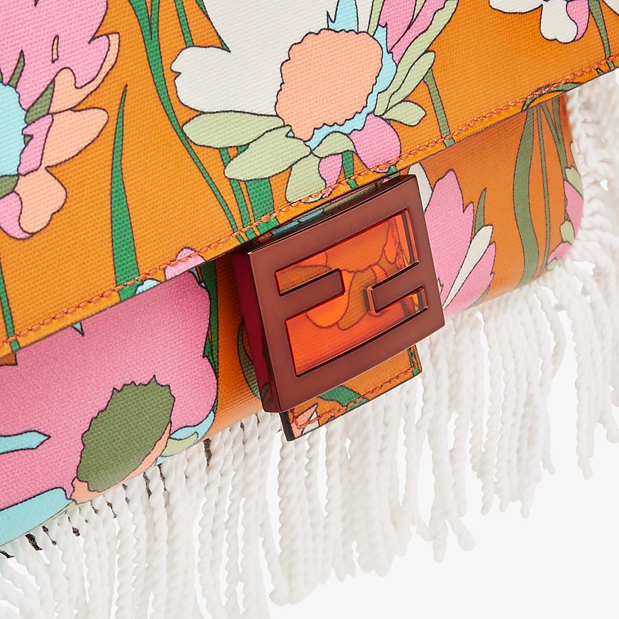 FENDI BAGUETTE - Orange fabric bag - view 5 detail