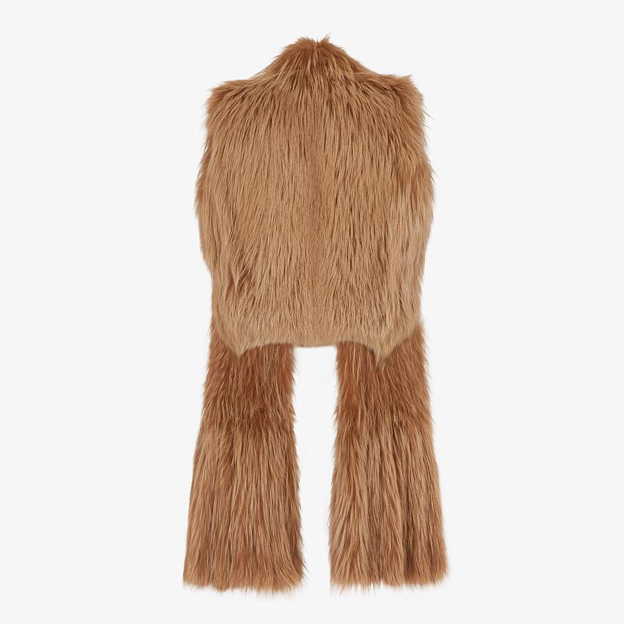 FENDI VEST - Brown fox fur vest - view 2 detail