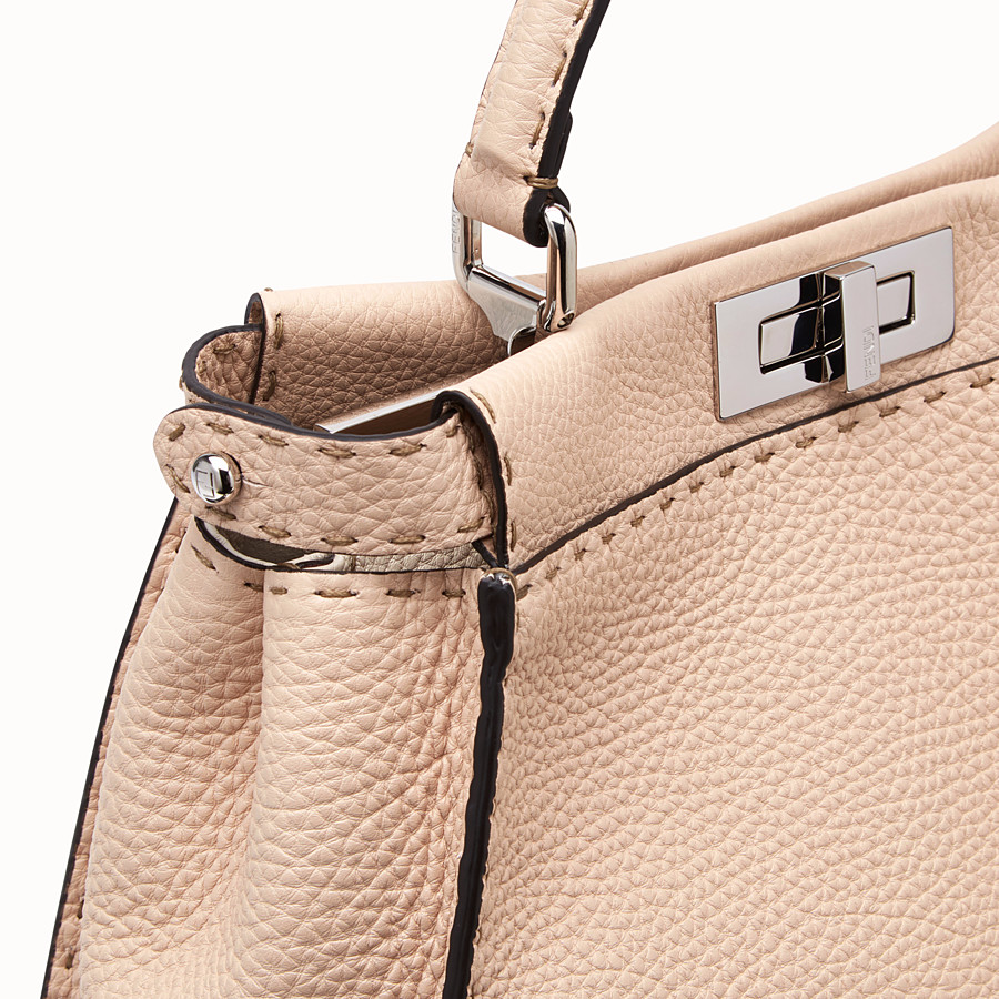 FENDI PEEKABOO ICONIC MEDIUM - Beige leather bag - view 6 detail