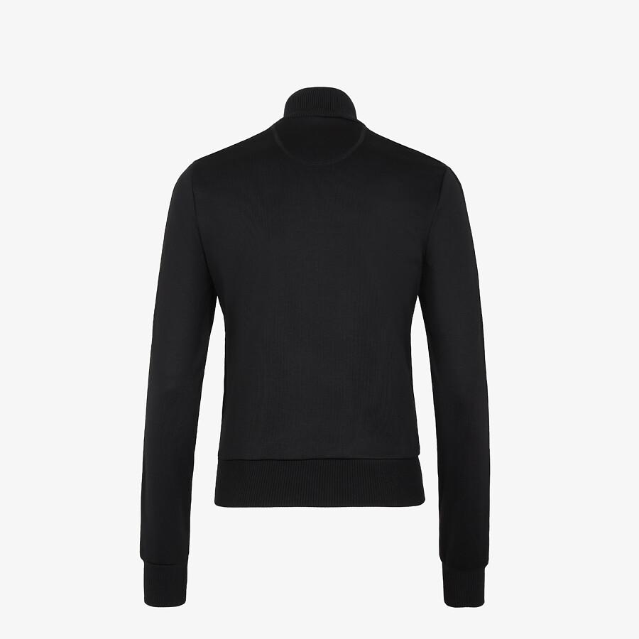 FENDI JUMPSUIT - Black piqué jersey tracksuit - view 2 detail